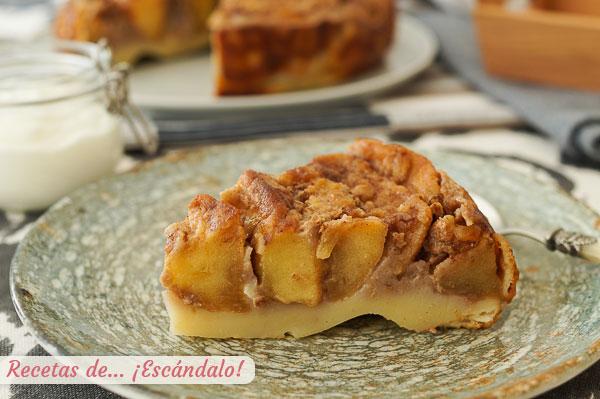 Como hacer tarta de manzana casera, facil, rapida y muy rica