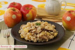 Risotto de setas y manzana, una combinacion deliciosa y diferente