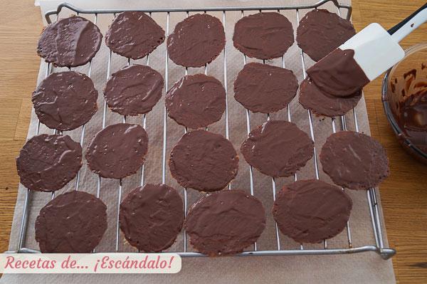 Galletas moscovitas con chocolate