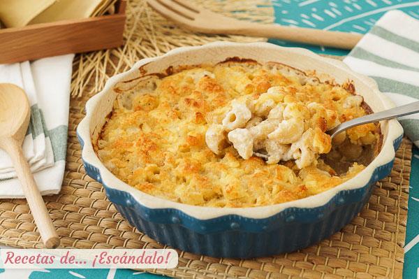 Como hacer mac and cheese o macarrones con queso, una receta de pasta irresistible