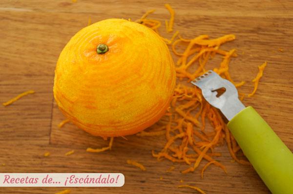 Ralladura de piel de naranja