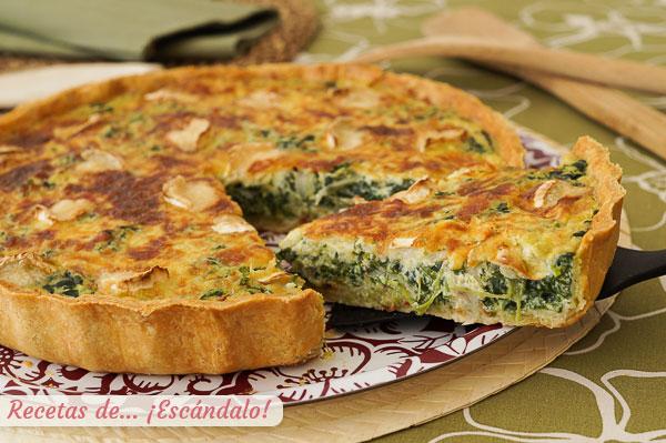 Špinatų ir ožkos sūrio su naminiais kepiniais receptas