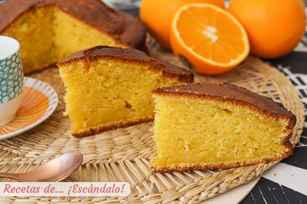 Como hacer bizcocho de naranja con Thermomix, muy facil y sabroso