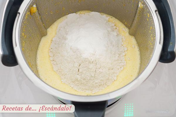 Ingredientes masa bizcocho naranja