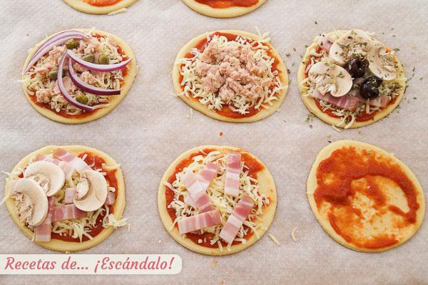 Mini pizzas rapidas caseras