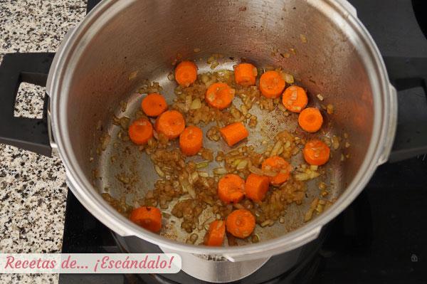 Verduras sofrito boeuf bourguignon