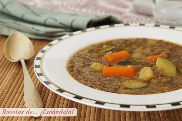 Receta de lentejas con verduras en thermomix, un estofado delicioso